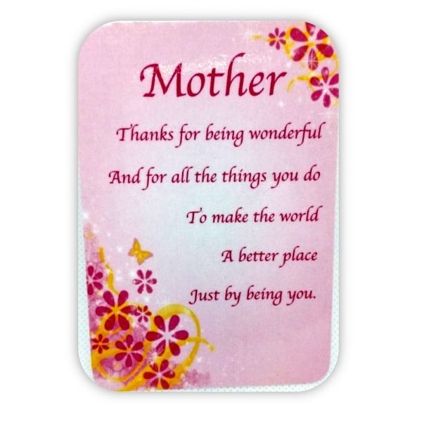 Fine Mother Thank You Poem Keepsake Cards St Martin Apostolate Funny Birthday Cards Online Fluifree Goldxyz