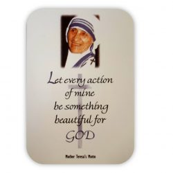 Mother Teresa Motto Card