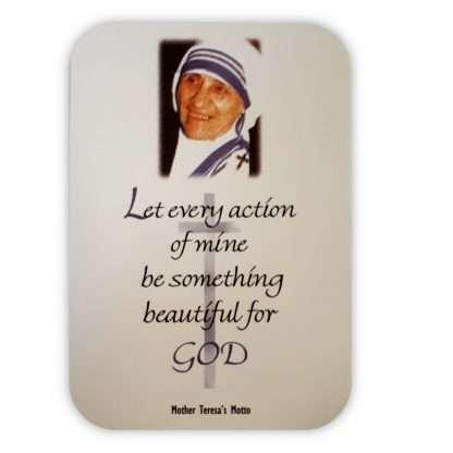 Mother Teresa Motto Card