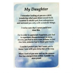 My Daughter Prayer Card