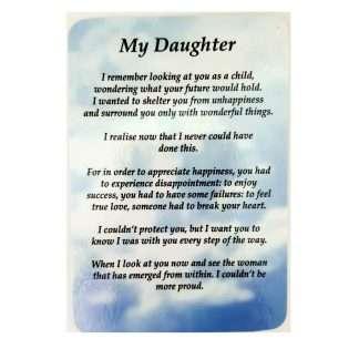 My Daughter Prayer Card