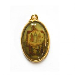 Knock Picture Medal depicts the apparition of Our Lady of Knock.