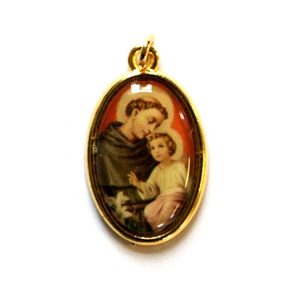 """St Anthony Picture Medal Approx. 1"""" Oval"""