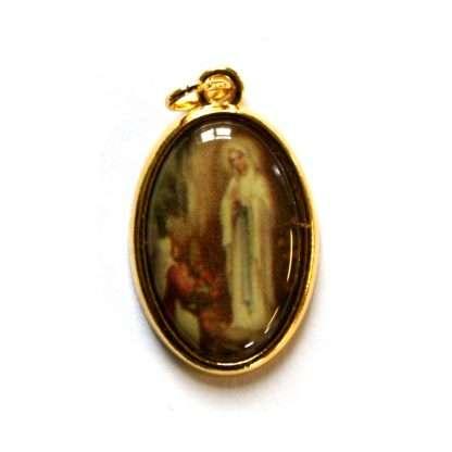 Lourdes picture medal