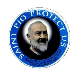 Padre Pio Window Sticker