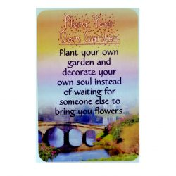Plant your own garden Prayer Card