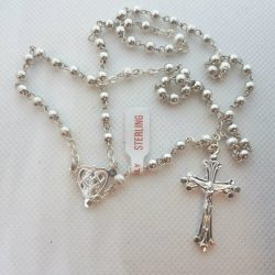 Sterling Silver Rosary Small RS001