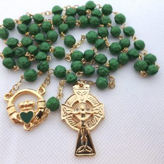 Irish handmade rosary (round) RS021