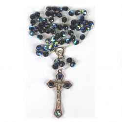 Studded Crucifix Rosary (Navy/Black)RS043-600x800