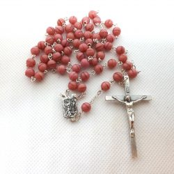 Pink Rosary Our Lady of Lourdes RS087