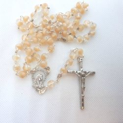 RS095 brown fleck rosary