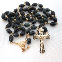 RS205 green oval rosary