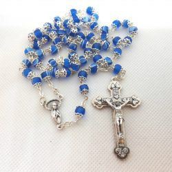 DARK BLUE CAPPED ROSARY