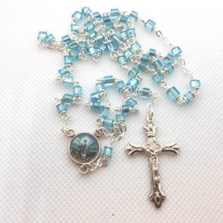 small blue rosary
