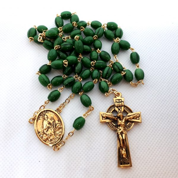 RS380 Green St. Patrick's Rosary