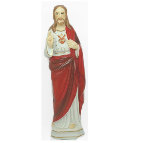 acred Heart 8 inch china statue