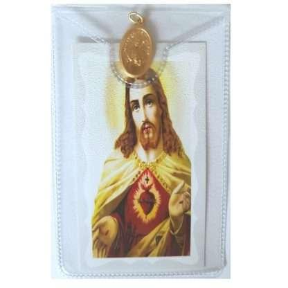Sacred Heart Medal and Leaflet
