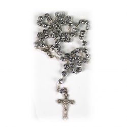 Silver Coloured Rose Bead