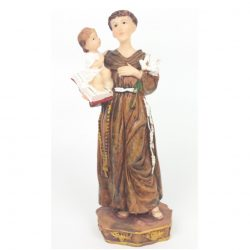 St Anthony 6 inch resin statue