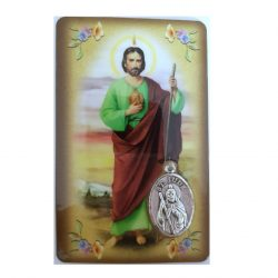 St. Jude Prayer Card with Medal