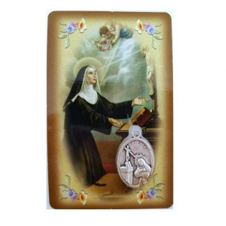 St. Rita prayer card with medal
