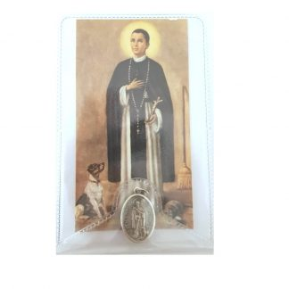 St. Martin Prayer Card with Medal