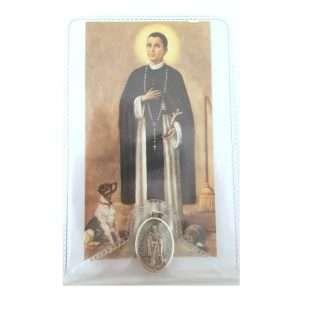 St. Martin Prayer Card with Medal