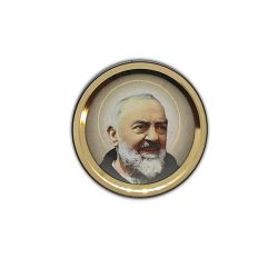 St Pio Vehicle Car Plaque adhesive and magnetic