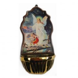 WF-137-GA guardian angel font (gilt plastic bowl)