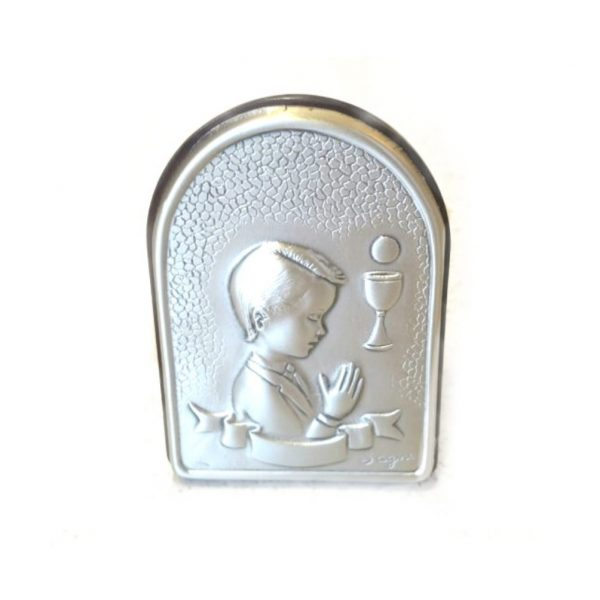 Boys First Holy Communion Silver Plaque