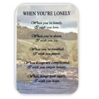 'When You're Lonely' Prayer Card