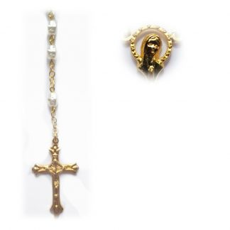 White Shell Rosary RS121