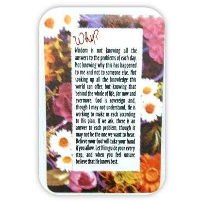 'WHY?' Prayer Card