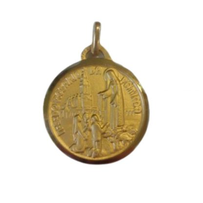 18ct Our Lady of Fatima Medal
