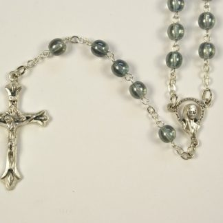 Grey Glass Bead Rosary RS406.jpg