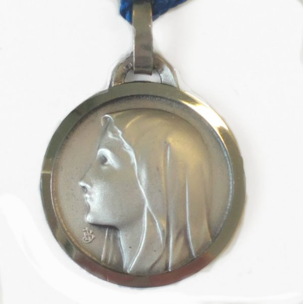 Our Lady of Lourdes Medal Pendant Silver