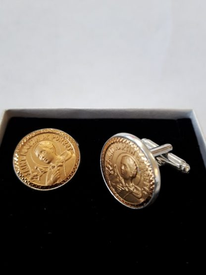 St Martin 18ct Gold Plated Cuff Links