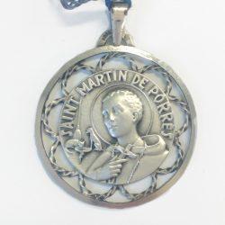 Ornate silver saint martin pendant