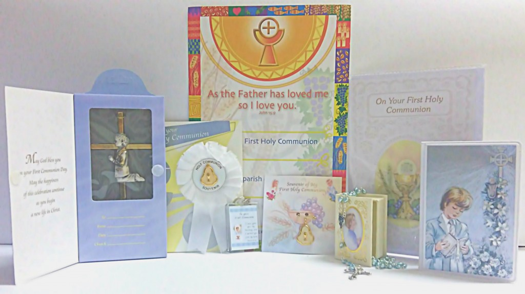 Boys Communion Offer, Gifts, First Holy Communion, Rosetts, Rosaries, Mass Books