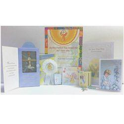 First Holy Communion Gift Set, Communion, Boys Communion Gifts, Boys Communion Offer, Bible, Rosary, Certificate, Communion Rosette, Cross, Mass Book