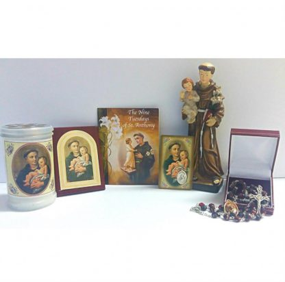 Saint Anthony Offer, Religious Goods, Statue, Rosary Beads, Plaques, Candle