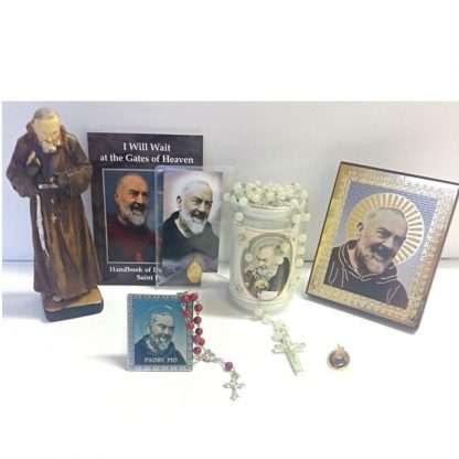 Padre Pio Amulet Pio Statue Candle Luminous Rosary