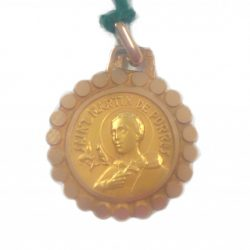 Gold St Martin Medal and chain