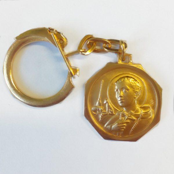 Saint martin Keyring Gold