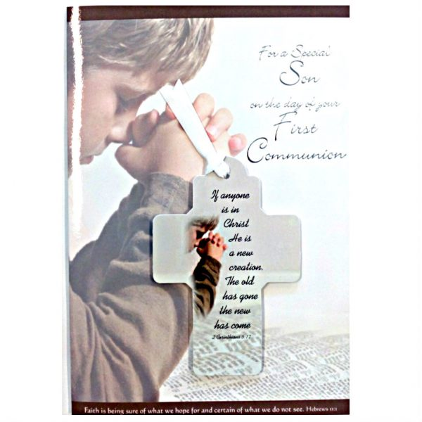 Special Son Communion Card with ribbon card keepsake