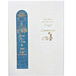 Boys Bookmark Communion Card