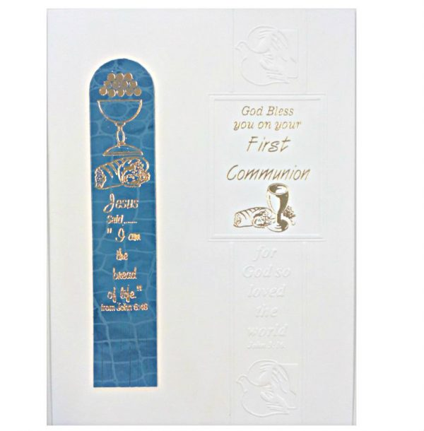 Boys Bookmark Communion Card