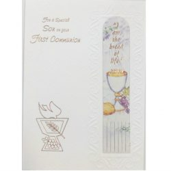 Son Communion Card with Bookmark