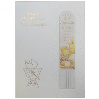 Daughter Communion Card