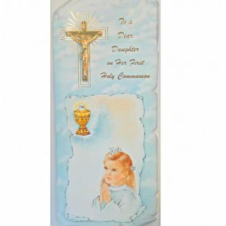Gold Cross Communion Card